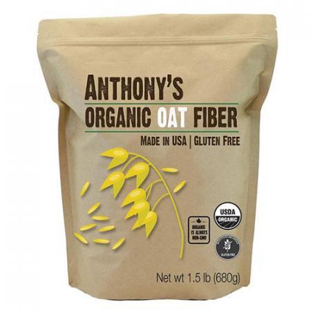 Fibre d'avoine biologique format 680g de marque Anthony's