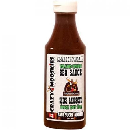Sauce BBQ Épices des îles format 375ml de Crazy Mooskies