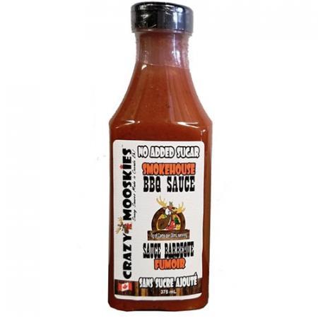 Sauce BBQ saveur Fumoir 375ml de Crazy Mooskies