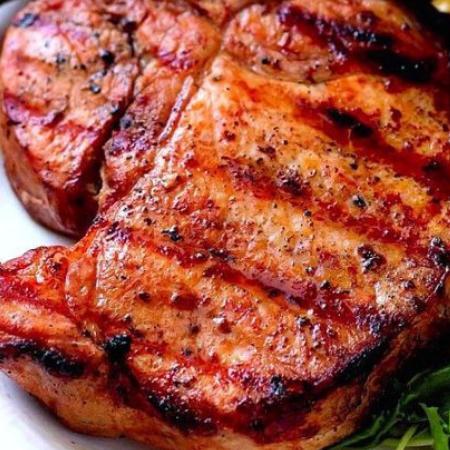 Côtelettes de porc marinade BBQ