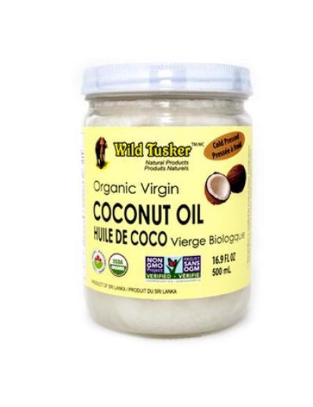 Huile de coco vierge format 500ml de la marque Wild Tusker